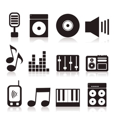 Musical icons7 vector