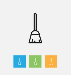 Of cleanup symbol on besom vector