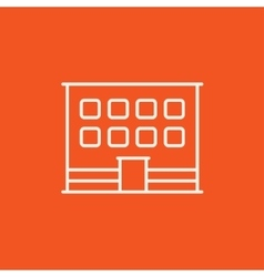 Office building line icon vector image vector image