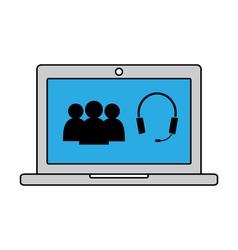 Online conversation icon vector