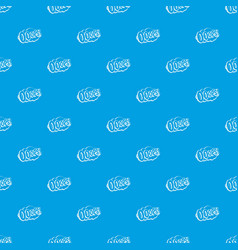 Ooops comic book explosion pattern seamless blue vector