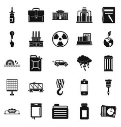 Outgoings icons set simple style vector