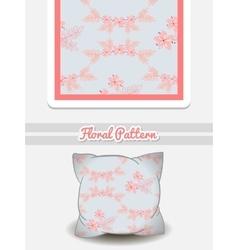 Pillow pink flowers vector