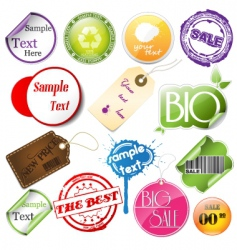 promotional elements vector image