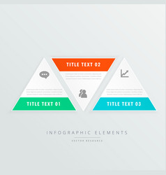 three triangle shapes infographic template with vector image vector image