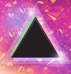 Triangular space design vector image