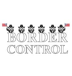 Usa border control vector