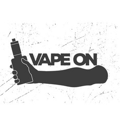 Vintage emblem with an electronic cigarette in vector