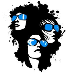 women wearing sunglasses vector image vector image