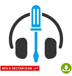 Headphones tuning screwdriver eps icon vector