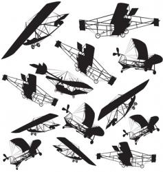 vintage planes background vector image