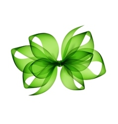 Light green transparent bow on white background vector