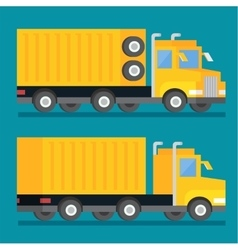 Heavy transport shipping truck transportation vector