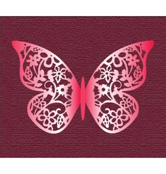 Lace Butterfly on texture background vector image