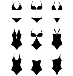 Set of icons of swimming suits vector image