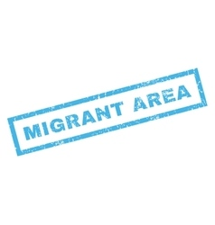 Migrant area rubber stamp vector