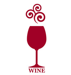 Full red wine goblet decorative icon vector