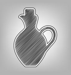 Amphora sign   pencil sketch vector