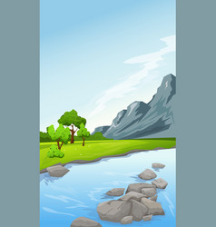 rural summer landscape vector image