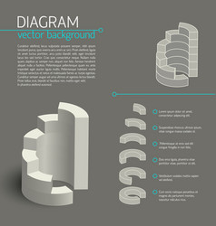 Business gray diagram infographic vector