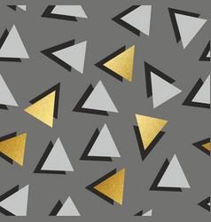 seamless pattern with golden triangles decorative vector image