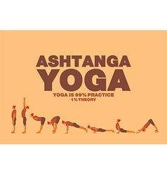 Ashtanga yoga poster vector