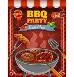 Barbecue party poster vector