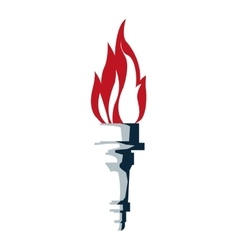 torch with flame icon vector image