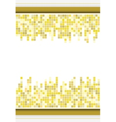abstract golden color mosaic background vector image vector image