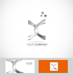 Abstract metal silver sign vector