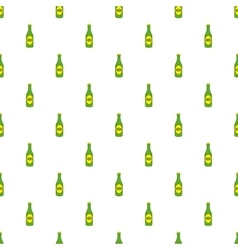 Bottle of beer pattern cartoon style vector image vector image