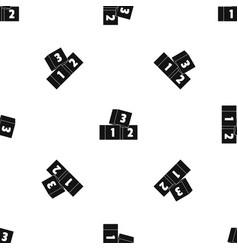 Bricks pattern seamless black vector