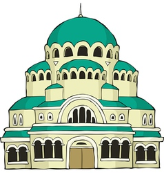 byzantine building vector image