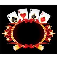 Casino neon vector image vector image
