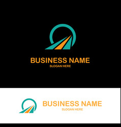circle triangle shape business logo vector image