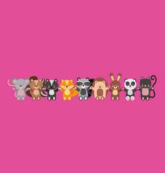 Cute animals vector