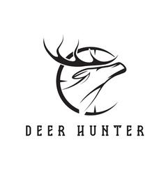 deer head with target design template vector image vector image
