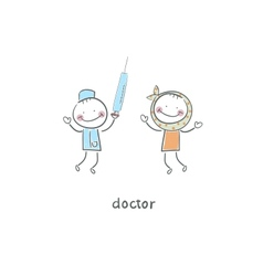 Doctor and patient vector