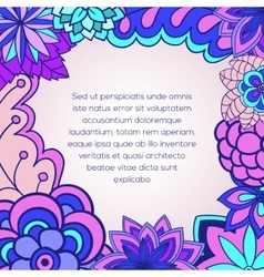 Floral card invitation vector