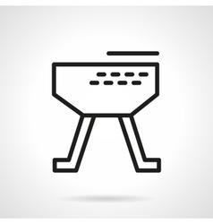 Gymnastic horse simple line icon vector