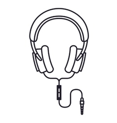headphones music isolated icon design vector image vector image