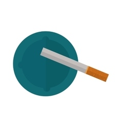 Icon cigarettes design idea and smoke problem vector image vector image