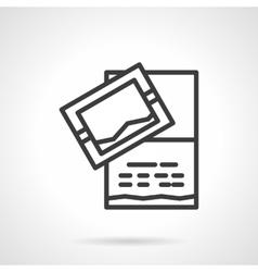 Invitation card icon black line design icon vector