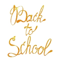 Lettering back to school september tinsels vector