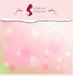 Light pink background with space for text vector image vector image