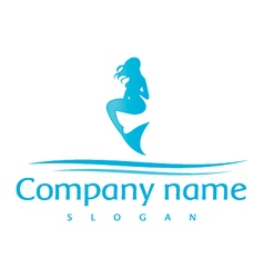 mermaid logo vector image vector image
