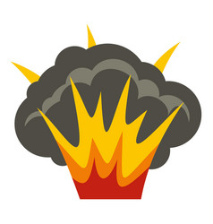 Projectile explosion icon isolated vector