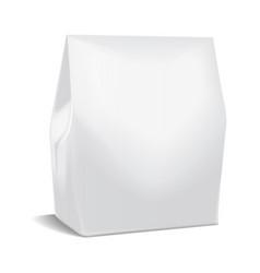 Realistic paper package take away food box mock vector