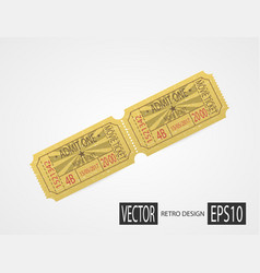 Retro cinema tickets design sand vector