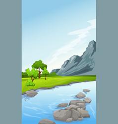 Rural summer landscape vector